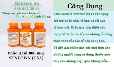 Folic Acid 800 mcg SUNDOWN - USA (Order)