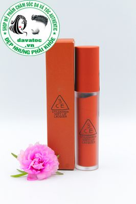 Son 3CE Soft Lip Lacquer Tawny Red – Cam Đất